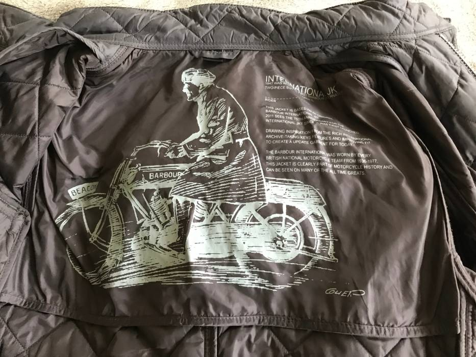 Leather barbour international motorbike jacket limited edition.