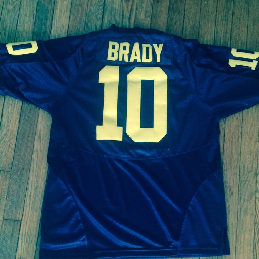 2098f489fc1 ... release date nike vintage michigan wolverines tom brady nike ncaa mens  player game jersey size us