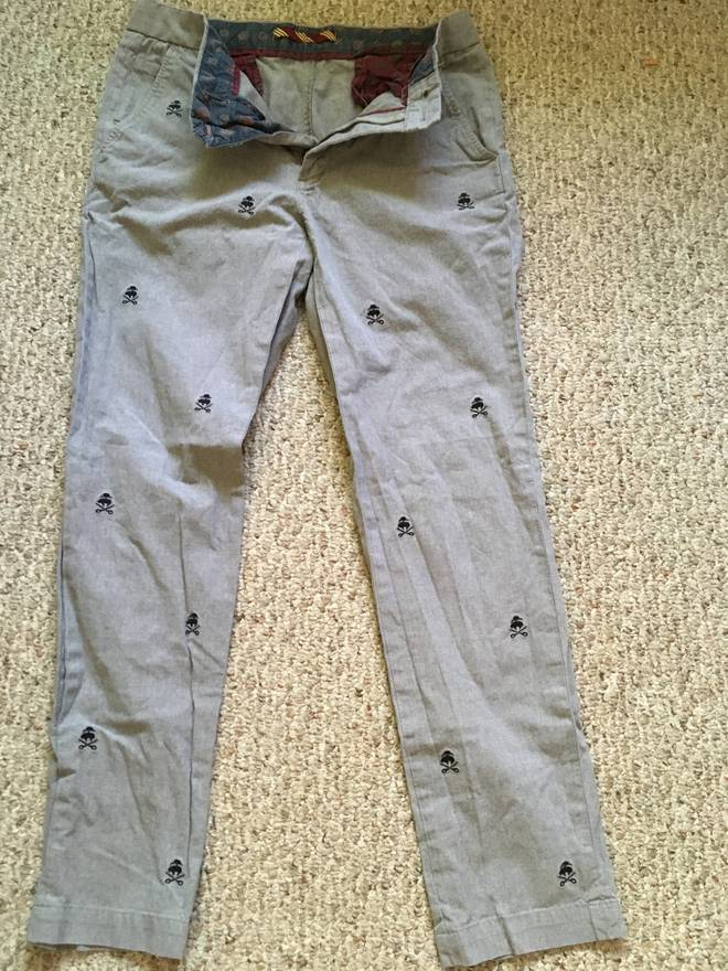 Vineyard Vines Slim Fit Breaker Pants Embroidered Palmetto Mens Size 30X30  New
