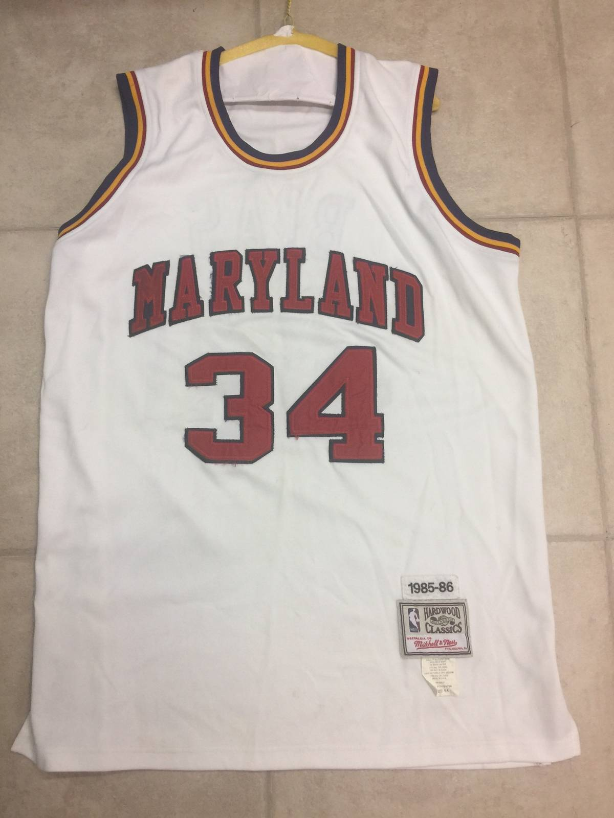 best service 04e6b 5bee7 Nba Len Bias Maryland Terrapins Mitchell & Ness College Basketball Jersey  Size Xl $56