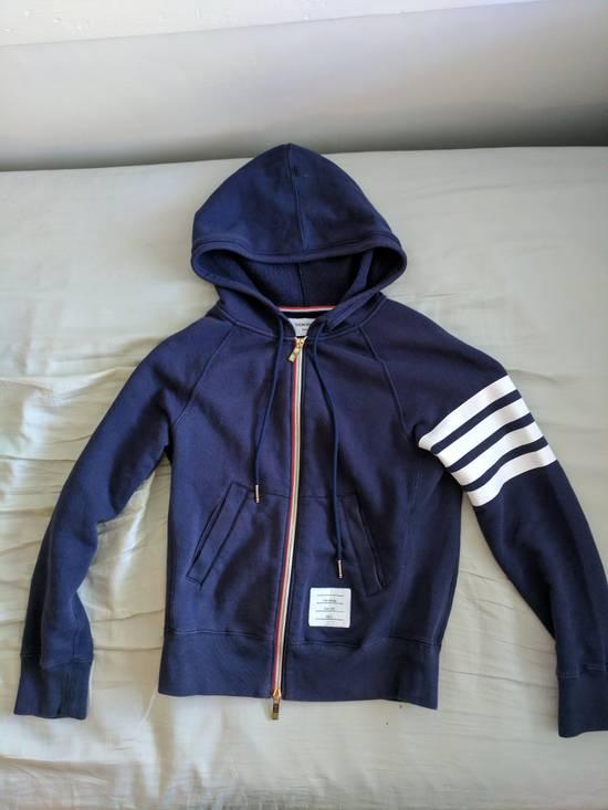 Thom Browne Navy Zip Hoodie Size US XS / EU 42 / 0