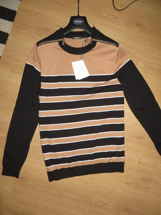 Balmain Stripped sweater with zippers Size US L / EU 52-54 / 3 - 1