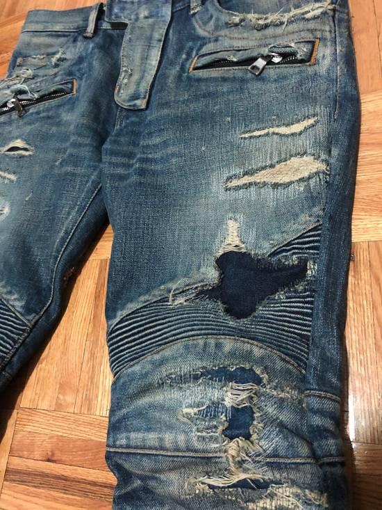 Balmain FW13 Oil Destroyed Indigo Jeans Size 30 (ALTERED) Size US 30 / EU 46 - 1
