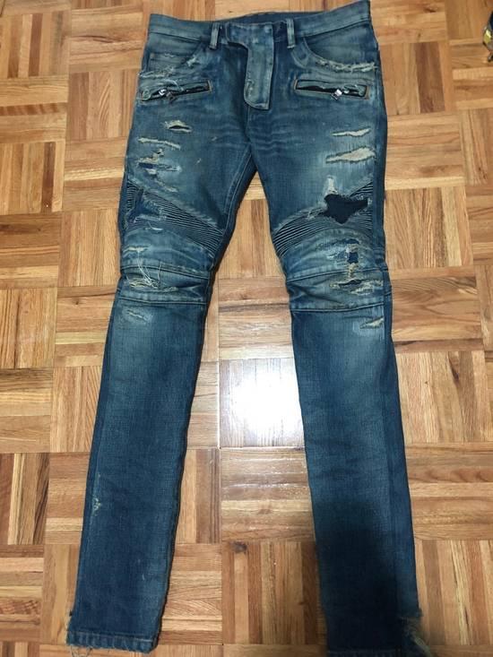 Balmain FW13 Oil Destroyed Indigo Jeans Size 30 (ALTERED) Size US 30 / EU 46