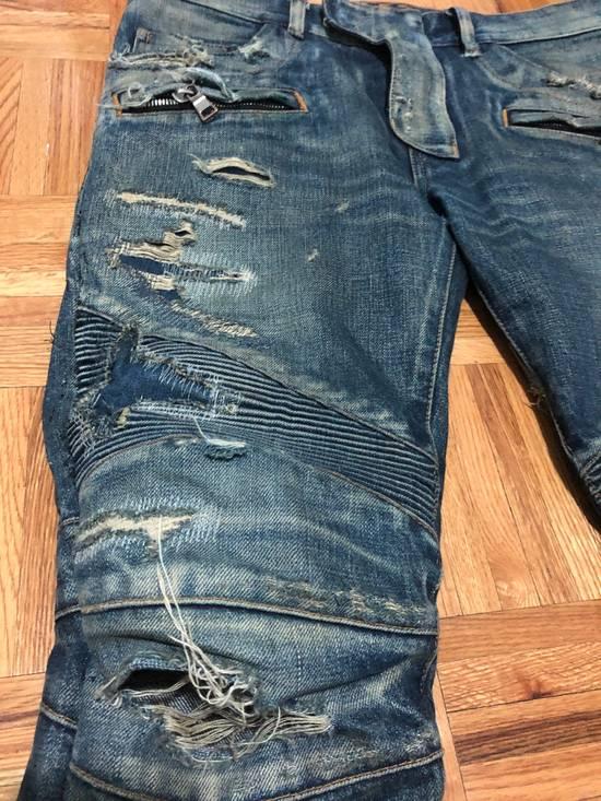 Balmain FW13 Oil Destroyed Indigo Jeans Size 30 (ALTERED) Size US 30 / EU 46 - 2