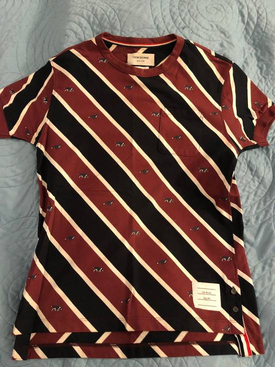 Thom Browne Striped T Shirt With Dog Detail Size US S / EU 44-46 / 1