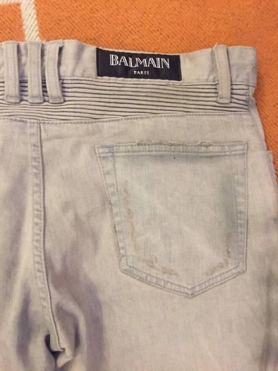 Balmain Grey Biker Denim Jeans Size US 30 / EU 46 - 8