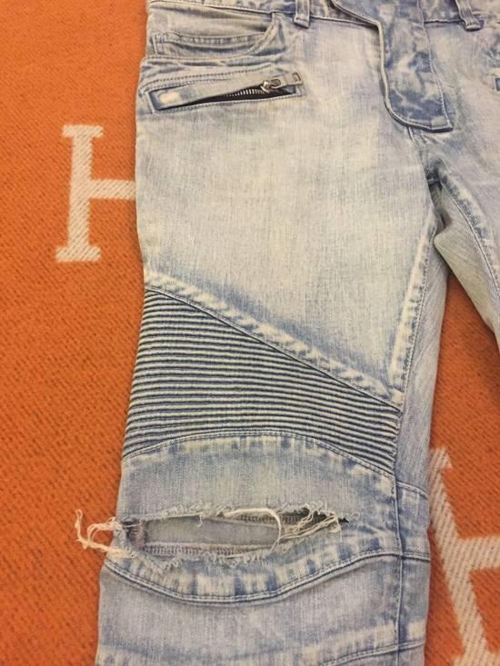 Balmain Classic knee ripped Biker Jeans Size US 31 - 1