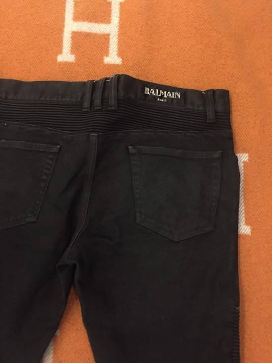 Balmain Classic Biker Jean Black Size US 30 / EU 46 - 3
