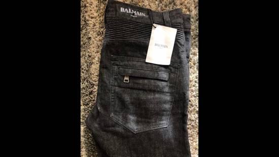 Balmain NWT Balmain Biker Homme Noir Denim Jeans Size 30 $1225 Size US 30 / EU 46