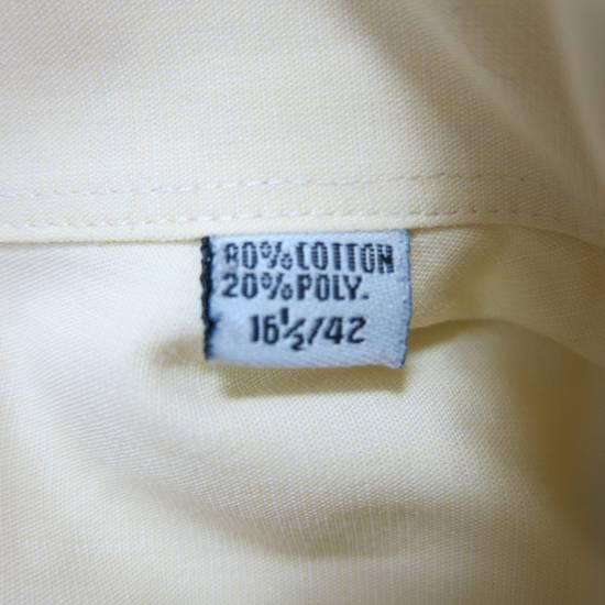 Balmain Balmain Paris 16 1/2/42 80% Cotton 20% Polyester Made in Hong Kong Light Yellow Long Sleeve Front Pocket Button Up Shirt Size US L / EU 52-54 / 3 - 6