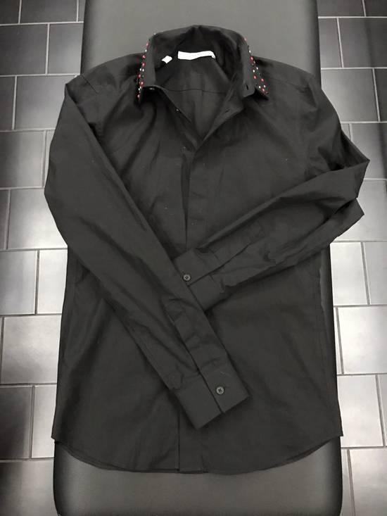 Givenchy Black Dress Shirt Studded Collar Size US XS / EU 42 / 0