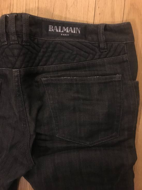 Balmain Black Biker Denim Size US 30 / EU 46 - 6