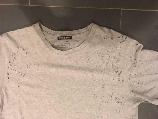 Balmain Balmain Decarnin Era Shot Grey Gun Distressed T Shirt Size US S / EU 44-46 / 1 - 4