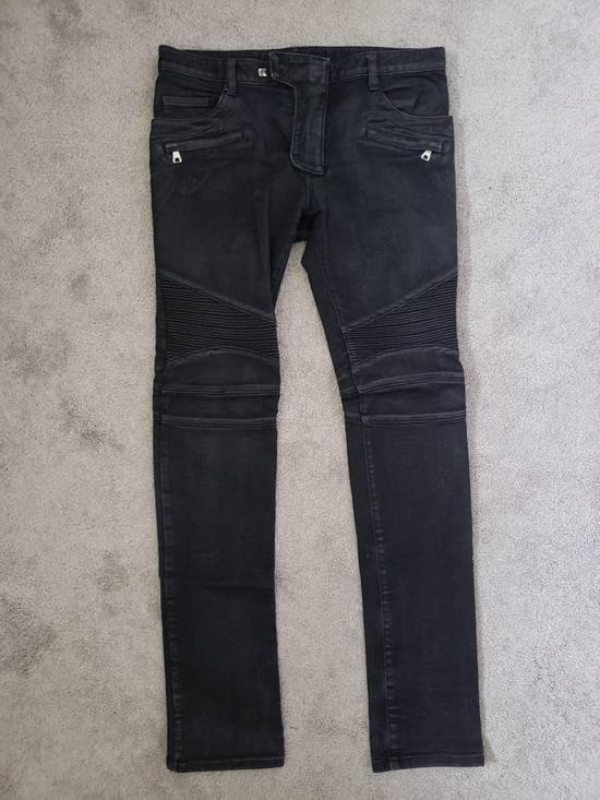 Balmain waxed biker denim & khaki *** 3 for 1 deal (price to sell) Size US 32 / EU 48