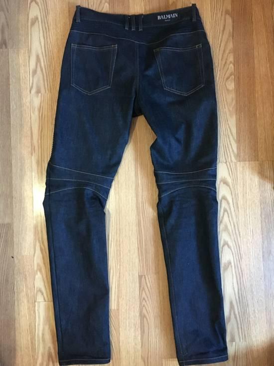 Balmain Balmain Indigo Biker Rib Jeans Size US 32 / EU 48 - 2