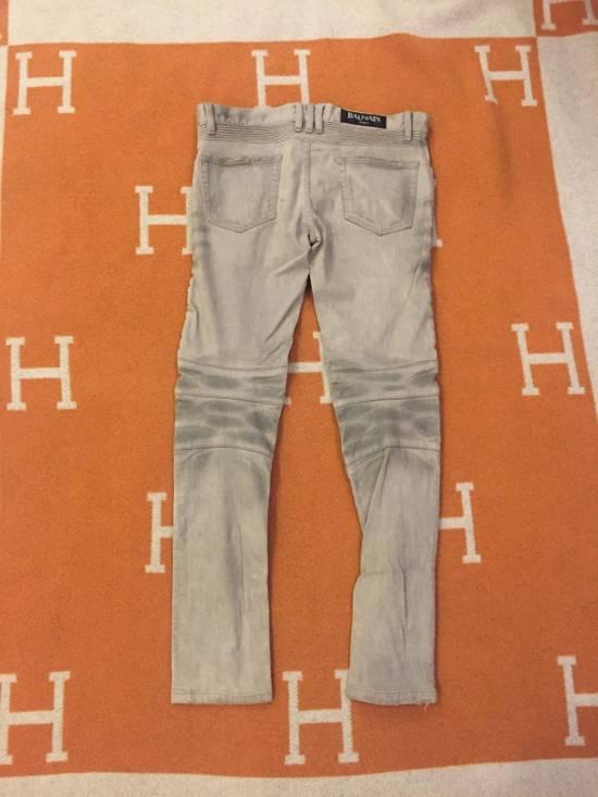Balmain Grey Biker Denim Jeans Size US 30 / EU 46 - 7