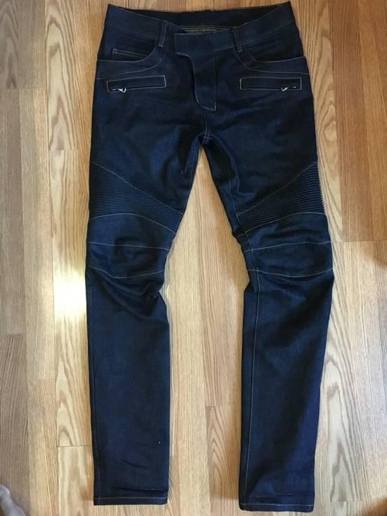 Balmain Balmain Indigo Biker Rib Jeans Size US 32 / EU 48