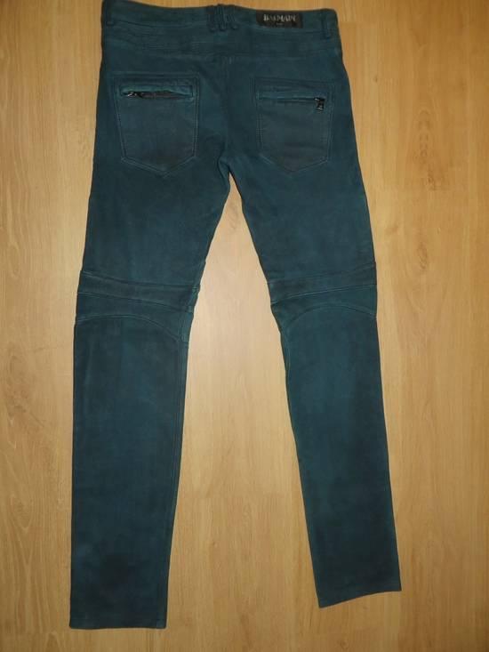 Balmain Suede biker pants Size US 34 / EU 50 - 6