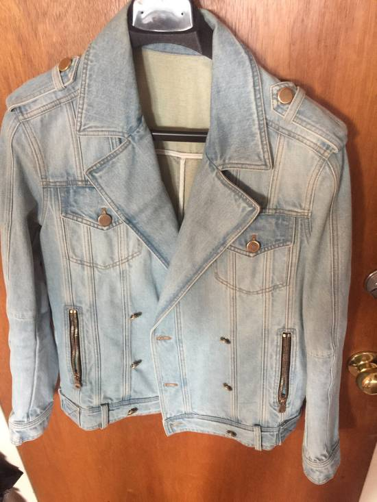 Balmain Denim Biker Jacket Size US M / EU 48-50 / 2
