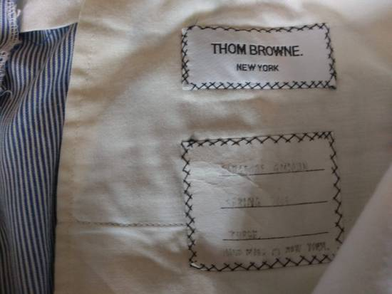 Thom Browne Thom Browne White-Blue Striped Cotton Pants - 2004 - Made in New York 32-33 Waist Size US 33 - 6