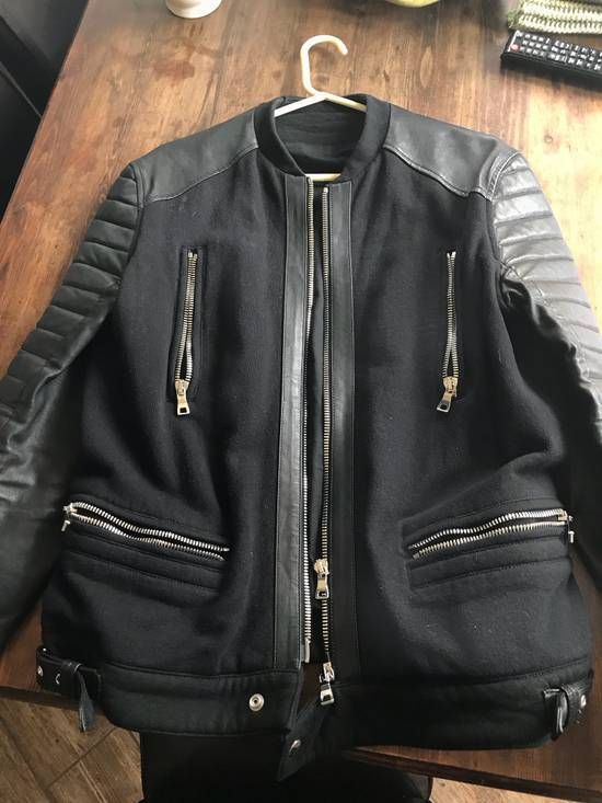 Balmain Men's Leather Jacket Size US M / EU 48-50 / 2