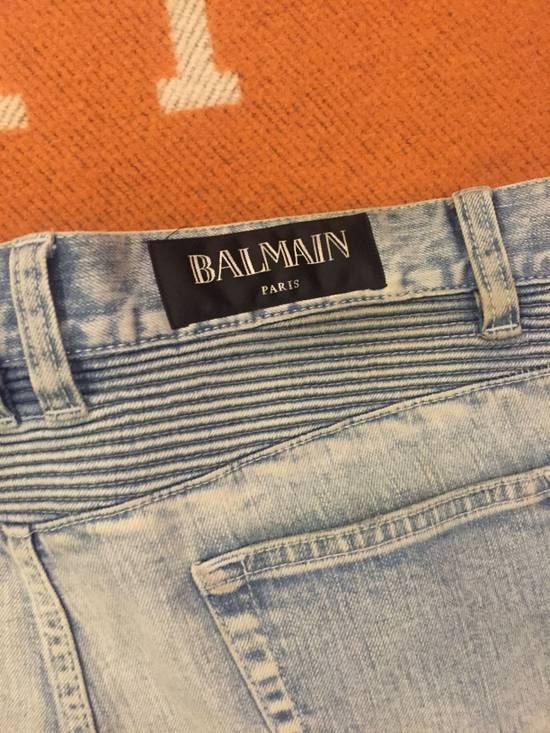 Balmain Classic knee ripped Biker Jeans Size US 31 - 5
