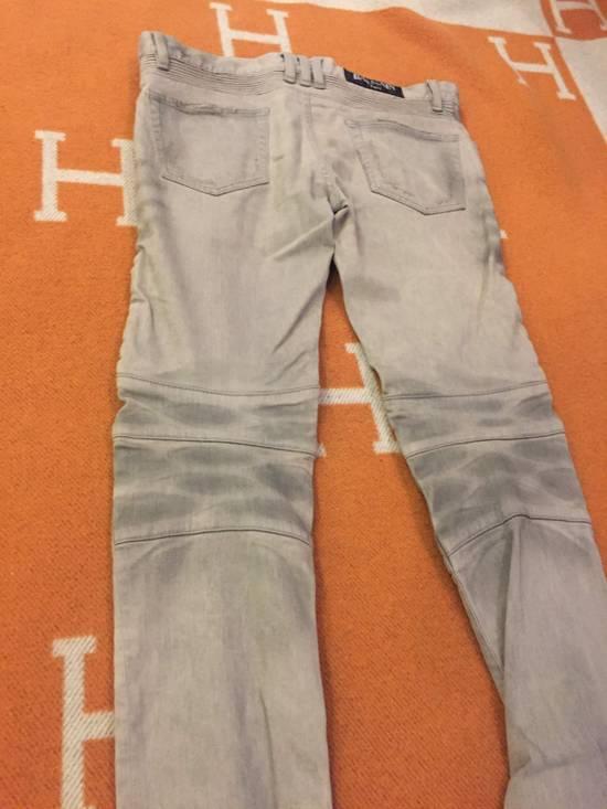 Balmain Grey Biker Denim Jeans Size US 30 / EU 46 - 10