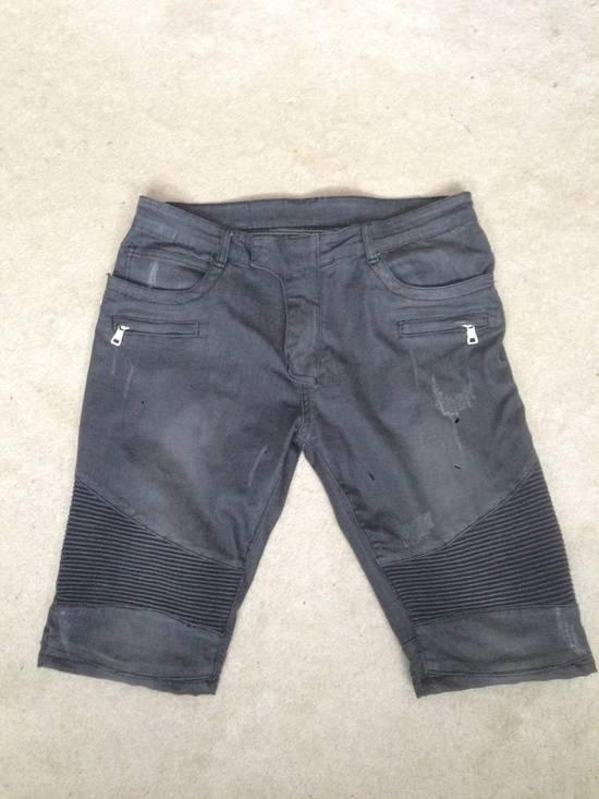 Balmain Distressed Black Shorts Size US 34 / EU 50