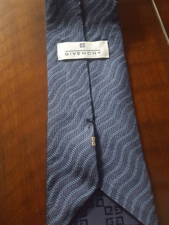 Givenchy Navy Striped Givenchy tie Size ONE SIZE - 1