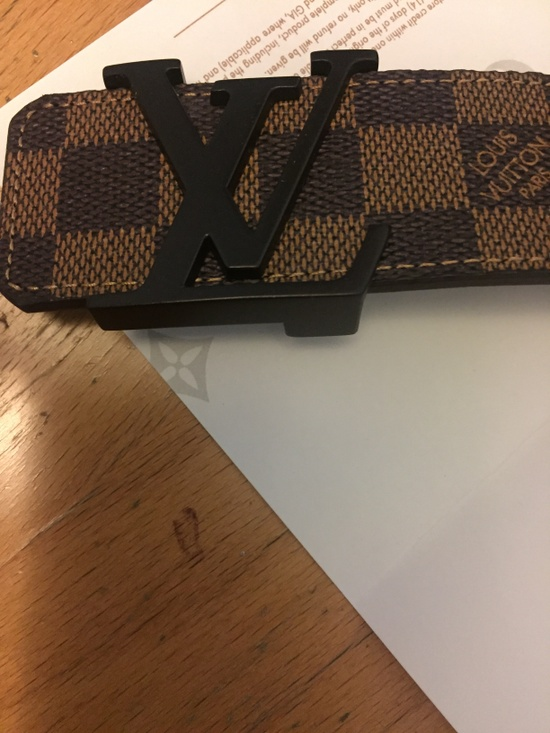louis vuitton louis vuitton brown damier belt size 40