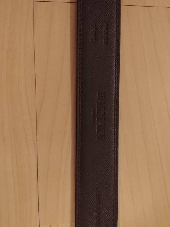 Balmain Balmain brown leather gold buckle belt Size 32 - 1